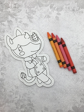 Merengue Animal Crossing Coloring Doll Embroidery Design